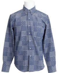 Naked & Famous Blue Denim Stars And Stripes Regular Shirt - Lyst