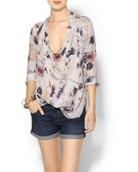 Haute Hippie Return Of The Cowl Blouse - Lyst