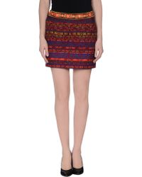 Matthew Williamson Pink Mini Skirt - Lyst