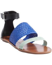 Dv By Dolce Vita Black and Blue and Seafoam Leather Viera Sandals - Lyst