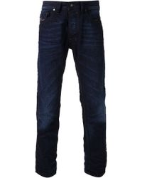 Diesel Medium Treated Straight Jeans - Lyst