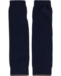 Loma Marine Ribbed-knit Cashmere Fingerless Gloves - Lyst