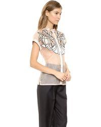 Temperley London Angeles Shirt  Almondblack - Lyst