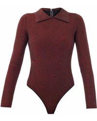 Alaïa - Luxe Collared Bodysuit - Lyst