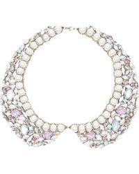 River Island Crystal Gem and Pearl Collar - Lyst