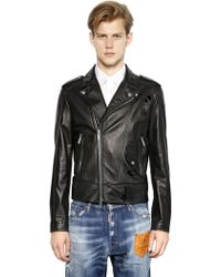 DSquared² Nappa Leather Jacket W/ Patent Details - Lyst