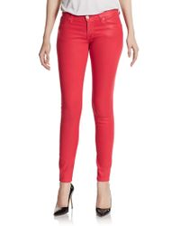 Hudson Krista Coated Super Skinny Jeans - Lyst