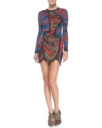 M Missoni Longsleeve Swirl Jacquard Dress - Lyst