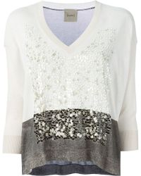 Nude Sequins Embroidered Sweater - Lyst