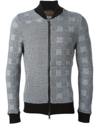 Relive - Hounds Tooth Bomber Jacket - Lyst