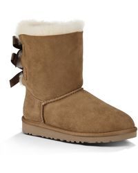 Ugg Toddlers Bailey Bow Sheepskin Boots - Lyst