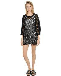 Etoile Isabel Marant Crocheted Cotton Guipure Lace Dress - Lyst