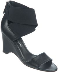 Franco Sarto Texture Leather Wedge Sandals - Lyst