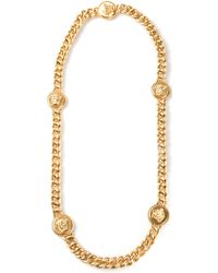 Versace Five Medusa Necklace - Lyst