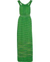 M Missoni Crochet-knit Cotton-blend Maxi Dress - Lyst