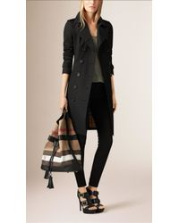 Burberry - The Large Ashby Canvas Check And Leather Bag - Lyst