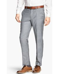 H&M Gray Suit Trousers - Lyst