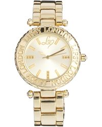 Lipsy - Gold Tone Bracelet Watch with Gold Tone Dial - Lyst