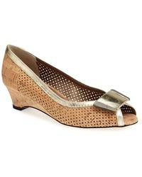 Vaneli Women'S 'Bonnee' Perforated Open Toe Pump - Lyst