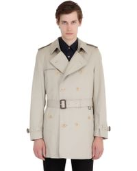 Burberry Brit - Cotton Gabardine Trench Coat - Lyst
