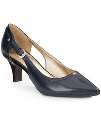 Circa Joan & David - Clarity Leather Point-toe Pumps - Lyst