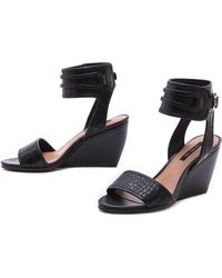 Rachel Zoe | Norah Ankle Strap Wedge Sandals | Lyst