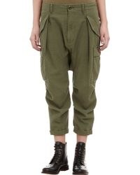 Nlst Cropped Droprise Utility Pants - Lyst