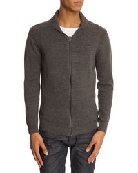 Diesel Chiccan Grey Zipped Cardigan - Lyst