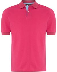 Jaeger Pique Polo Shirt with Contrast Placket - Lyst