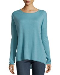 Vince Scoop-Neck Long-Sleeve Sweater - Lyst