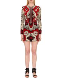 Valentino Floral-Print Silk-Crepe Playsuit - Lyst