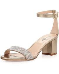 Valentino Glam Mesh Naked Sandal gold - Lyst
