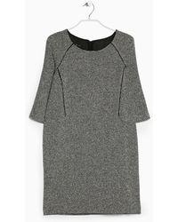 Mango Flecked Cottonblend Dress - Lyst