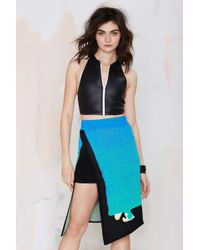 Nasty Gal Alice Mccall Natural Landscape Skirt - Lyst