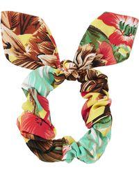 Topshop Multicolor Tropical Scrunchie - Lyst