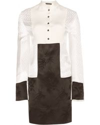 Alexander McQueen Jacquard Silk Dress - Lyst