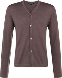 Aquascutum Brown Lawrence Cardigan - Lyst