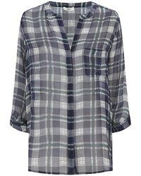 Joie Nura Check Print Shirt - Lyst