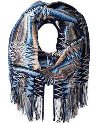 Missoni Blue scarves - Lyst