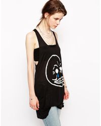 Cheap Monday Crying Skull Tank - Lyst