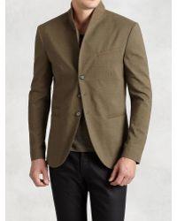John Varvatos   Linen Cotton Shawl Collar Jacket   Lyst