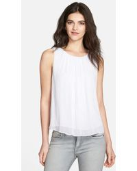 Sam Edelman Sheer Blouse white - Lyst
