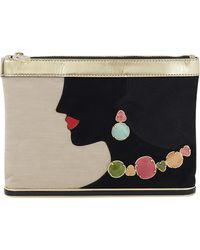 Charlotte Olympia | Ari Clutch With Gem Detail | Lyst