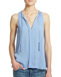 Joie Airlan Silk Sleeveless Top - Lyst