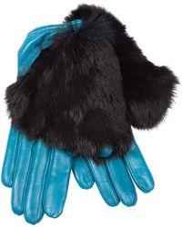 Imoni - Fur Timmed Gloves - Lyst