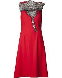 Christopher Kane Rose Crochet Dress - Lyst