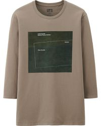 Uniqlo Men Ecm Records Graphic 3/4 Sleeve T Shirt - Lyst
