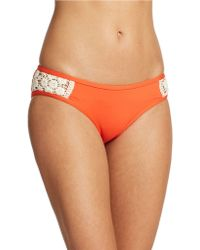 Lucky Brand Crochet Detail Hipster Bikini Bottom - Lyst
