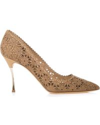 Nicholas Kirkwood Lasercut Leather Pumps - Lyst