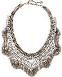 Dannijo Norgaard Silver Plated Crystal Bib Necklace - Lyst